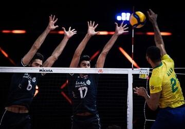 خلاصه دیدار تماشایی والیبال ایران ۱-۳ برزیل / فیلم
