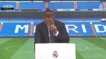 احساسی شدن سرخیو راموس در مراسم جدایی از رئال مادرید / فیلم