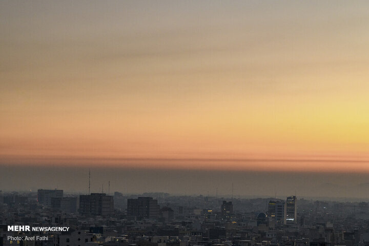 هوای تهران نارنجی شد!