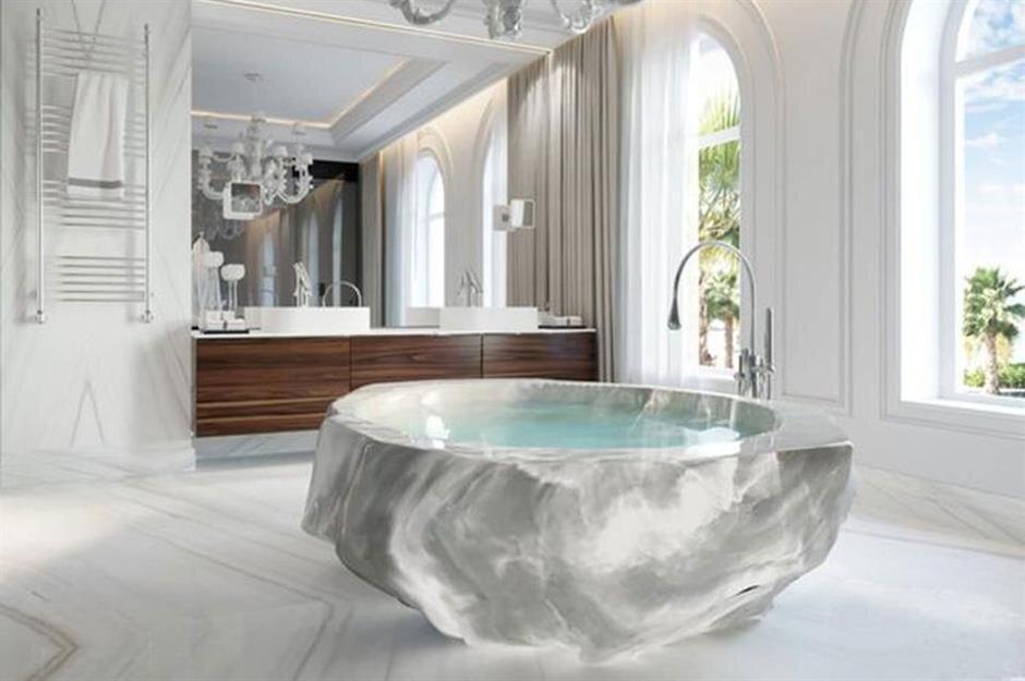 لاکچریترین حمامهای جهان/ از حمام آکواریم تا چهار فصل