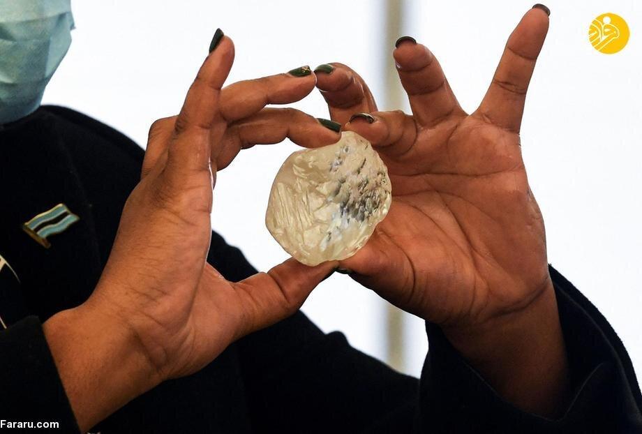 کشف سومین الماس بزرگ جهان در آفریقا / تصاویر