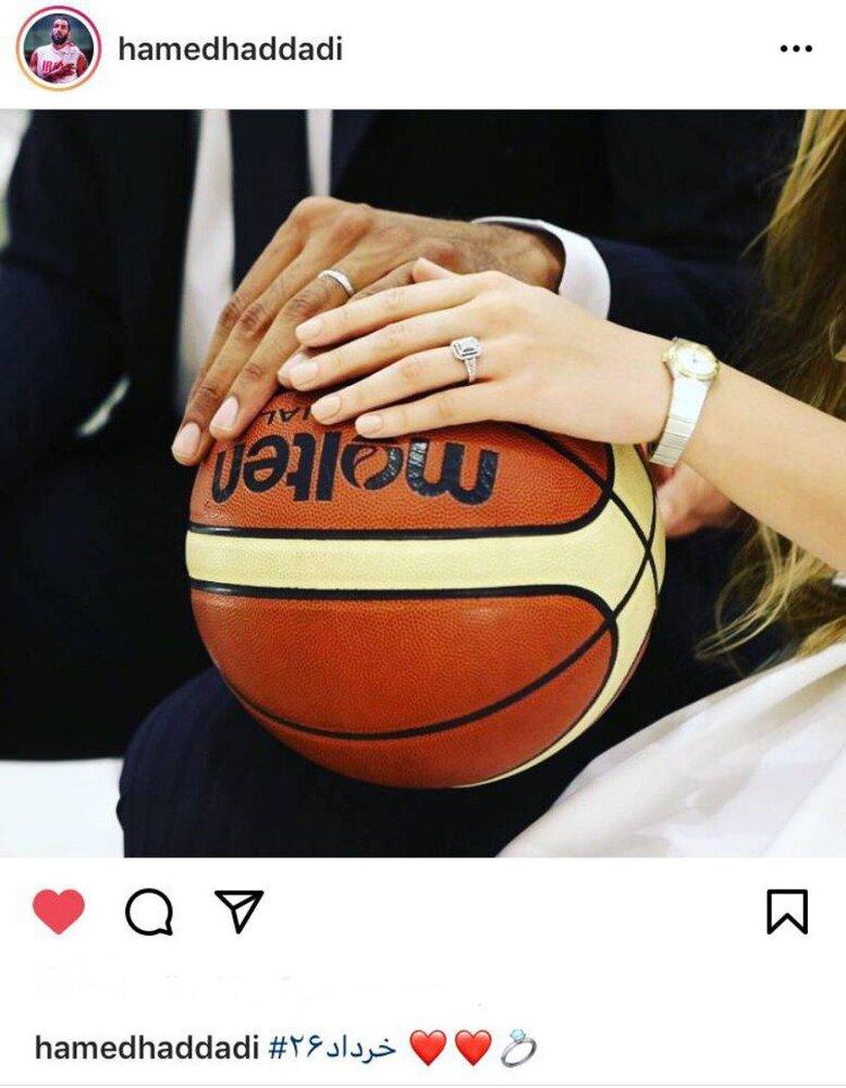 یک ازدواج بسکتبالی در اینستاگرام/عکس