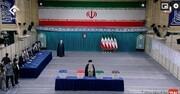 لحظه رای دادن رهبر انقلاب در حسینیه جماران / فیلم