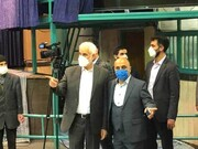 جو متشنج هنگام رای دادن محسن مهرعلیزاده در جماران / مردم شعار دادند