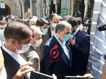 محسن رضایی برای رای دادن به حرم عبدالعظیم حسنی رفت / عکس