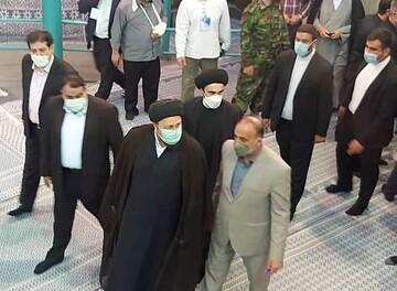 «سیدحسن خمینی» در حسینیه جماران رای داد / عکس