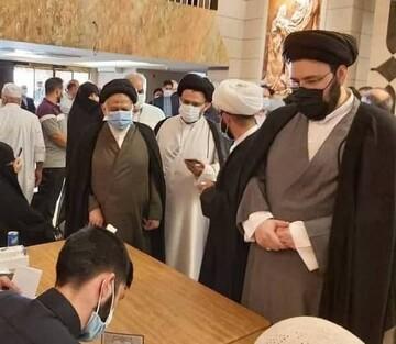 سیدعلی خمینی یادگار امام (ره) در انتخابات شرکت کرد / عکس