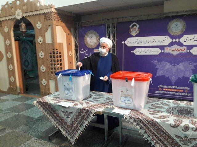 صحبتهای حسن روحانی بعد از حضور در پای صندوق رای / فیلم