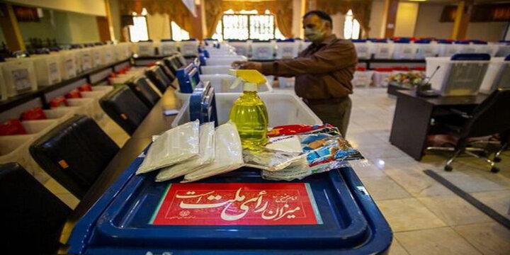شعبه اخذ رأی در محل مزار شهید سردار سلیمانی در کرمان / فیلم