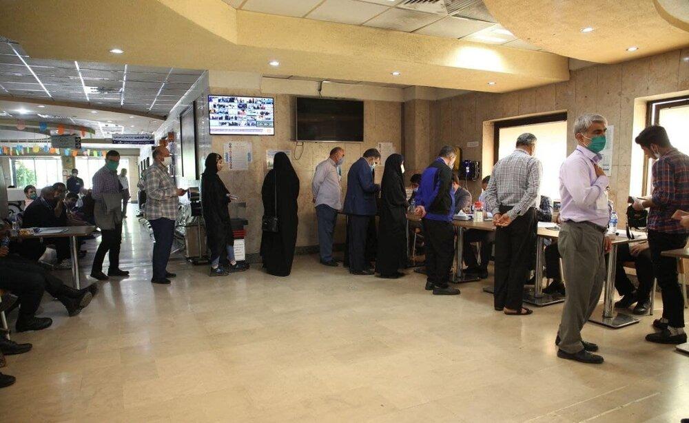 رایگیری در بیمارستان بقیه الله / تصاویر