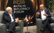 ظریف با وزیر خارجه ترکیه گفت و گو کرد