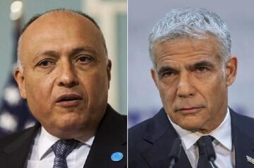 وزرای خارجه مصر و رژیم صهیونیستی تلفنی گفتگو کردند