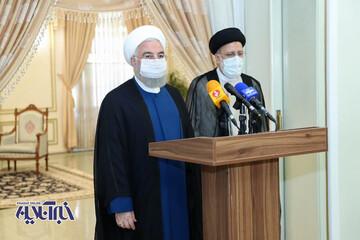 دیدار دکتر روحانی با رییس جمهور منتخب   روحانی: همه مردم حامی دولت جدید خواهند بود / فیلم
