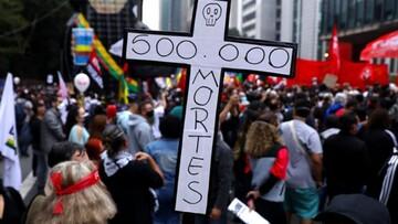 عبور آمار قربانیان کرونا در برزیل از مرز ۵۰۰ هزار نفر/ مردم دست به تجمع زدند