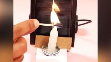 ساختن یک ماشین جالب که با سوختن شمع حرکت میکند! /  فیلم