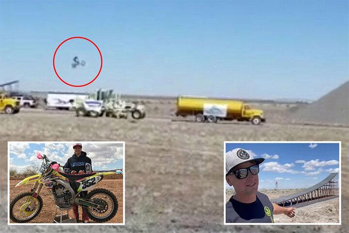 مرگ دردناک موتورسوار معروف در حین شکستن رکورد جهانی پرش / فیلم