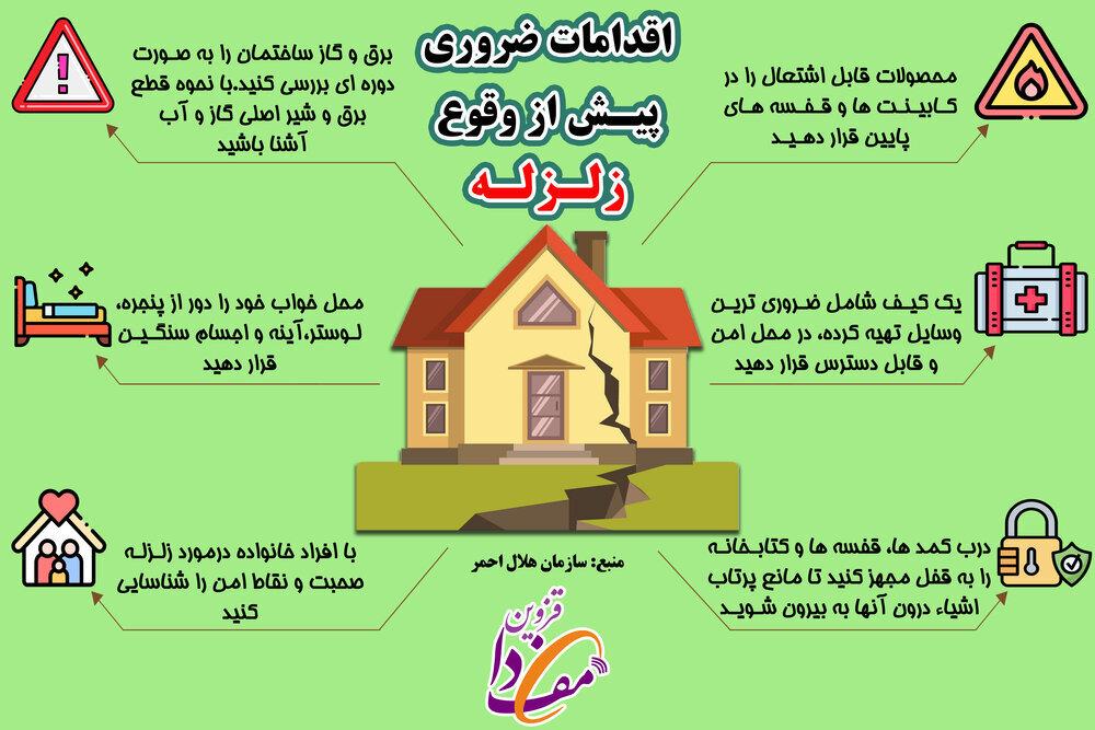 اقدامات ضروری پیش از وقوع زلزله / عکس