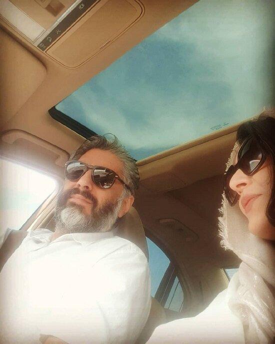 ساره بیات به همراه همسرش / عکس