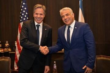 دیدار بلینکن با وزیر خارجه جدید رژیم صهیونیستی