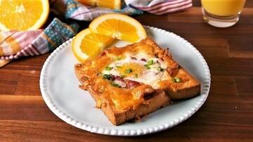 تُست تخم مرغ، صبحانه خوشمزه و سالم + طرز تهیه