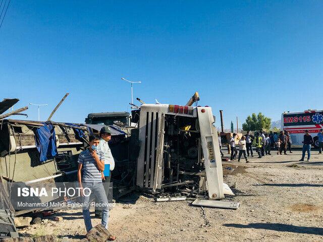 اعلام اسامی مصدومان و فوتیهای حادثه تصادف اتوبوس در دهشیر