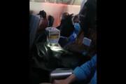 تصاویری عجیب از خیاطی کردن در هواپیما / فیلم