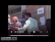 ویدیو غمانگیز از برخورد نامناسب مامور نیروی انتظامی با سالمندانِ منتظر واکسن/ فیلم
