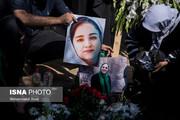 برگزاری مراسم یادبود ریحانه یاسینی در بهشت زهرا / عکس
