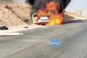 گرمای هوای اهواز یک خودرو را به آتش کشید / فیلم