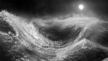 صحنه هولناک برخورد وحشتناک امواج دریا با کشتی / فیلم