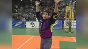والیبال بازی کردن مارادونا با مهارتهای فوتبالی / فیلم