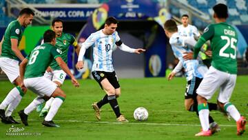 مسی هم به جمع ۱۰ گلزن ملی برتر فوتبال جهان رسید