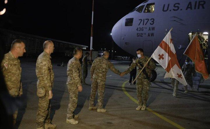 خروج نیروهای گرجستان از افغانستان