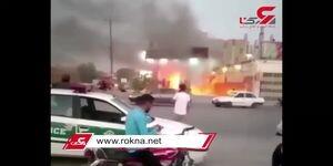 لحظه هولناک آتش سوزی مهیب پمپ بنزین خوزستان / فیلم