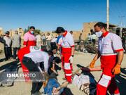تصاویری دردناک از تصادف زنجیرهای در جاده قم
