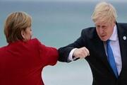 دیدار نخست وزیر انگلیس و صدراعظم آلمان در انگلیس