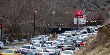 آخرین وضعیت ترافیکی جادههای کشور عصر جمعه ۱۱ تیر   ترافیک سنگین در محور چالوس