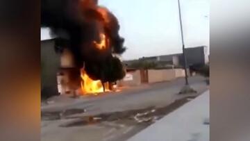 لحظه انفجار ترانس برق به دلیل گرما در خوزستان / فیلم