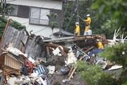 جستجوها برای یافتن مفقودان رانش زمین در ژاپن ادامه دارد