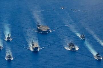 آغاز رزمایش آمریکا و سه کشور دیگر در اقیانوس آرام