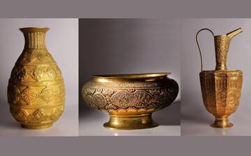 آغاز به کار نمایشگاه «۵۰ سال هنر فلزکاری»
