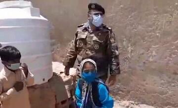 ارتش به کمک دختر سیستان و بلوچستانی رفت