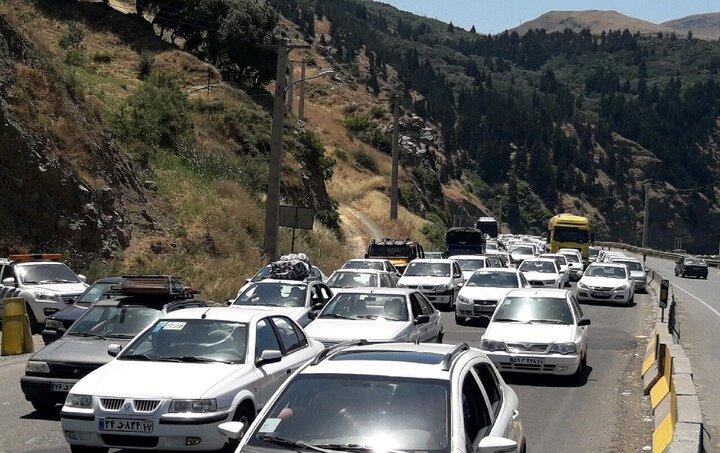 آخرین اخبار از وضعیت جادهها و راهها / ترافیک در جاده چالوس سنگین است