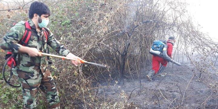 آتشسوزی کوه نارک گچساران به حالت کنترل درآمد