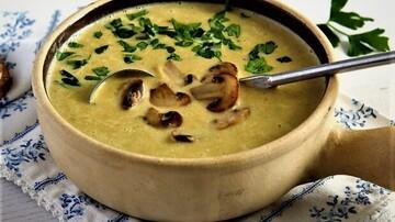 سوپ قارچ و هویج خوشمزه + طرز پخت