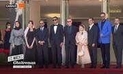 فیلمی از حضور اصغر فرهادی و امیر جدیدی روی فرش قرمز جشنواره کن