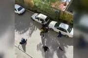 ویدئویی جدید از دعوا و کتککاری چند دختر جوان در خیابان باز هم جنجالی شد / فیلم