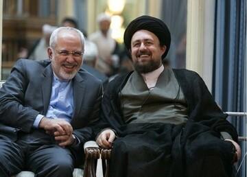 سید حسن خمینی: آیندگان از ظریف به بزرگی یاد خواهند کرد / فیلم