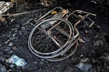 آتش گرفتن بیمارستان بیماران کرونایی در عراق / فیلم