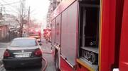 تصاویری از آتش سوزی مهیب در خیابان مطهری تهران / فیلم